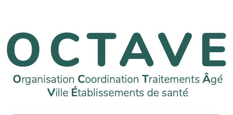 Logo Octave: Organisation Coordination Traitements Âgé Ville établissement de santé